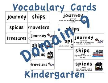 CKLA Kindergarten Domain 9 Vocabulary Cards