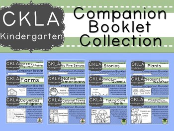 CKLA Kindergarten Domain Companion Booklet BUNDLE Domains 1 -12