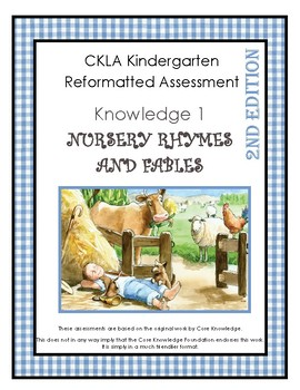 CKLA Kindergarten Knowledge Domain 1 Fairy Tales and Fables Assessment