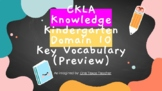 CKLA -- Kindergarten -- Knowledge -- Domain 10 -- Core Voc