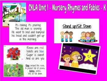 CKLA Kindergarten Knowledge Unit 1 Nursery Rhymes and Fables