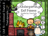 CKLA Kindergarten Knowledge Unit 10 - Colonial Towns & Townspeople Exit Passes