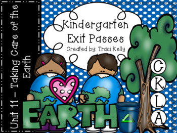 CKLA Kindergarten Knowledge Unit 11 - Taking Care of the Earth Exit Passes