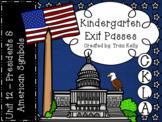 CKLA Kindergarten Knowledge Unit 12 Presidents & American Symbols Exit Passes