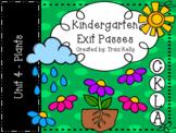 CKLA Kindergarten Knowledge Unit 4 Plants Exit Passes