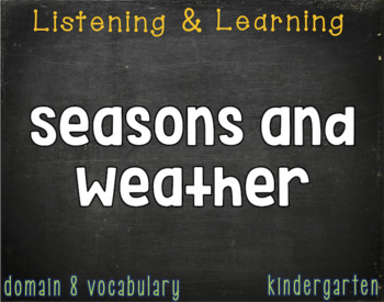 CKLA Kindergarten Listening & Learning Vocabulary (Domains 7-12)