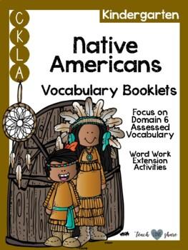 CKLA Kindergarten Native Americans Vocabulary Booklet