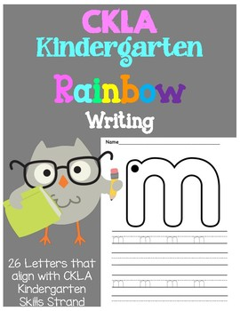 CKLA Kindergarten Rainbow Writing