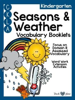 CKLA Kindergarten Seasons and Weather Vocabulary Booklet