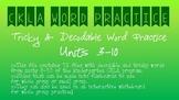 CKLA Kindergarten Skill Units 3-10 Decodable & Tricky Word