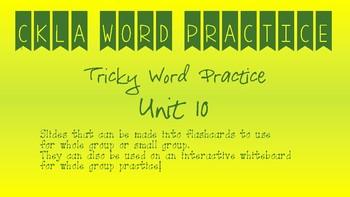 CKLA Kindergarten Skills Unit 10 Tricky Words