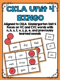 CKLA Kindergarten Skills Unit 4 BINGO
