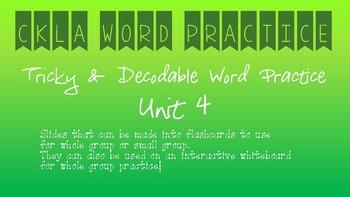 CKLA Kindergarten Skills Unit 4 Word Practice