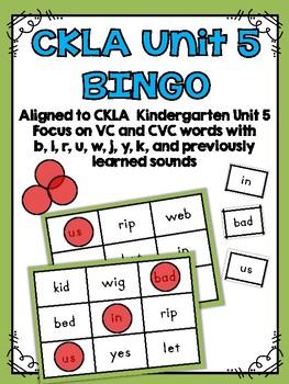 CKLA Kindergarten Skills Unit 5 BINGO