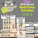 CKLA Kindergarten Skills Unit 5 Small Group Activities
