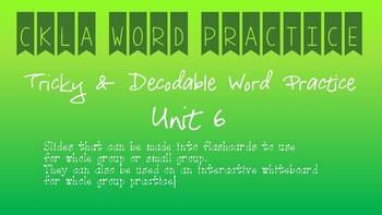 CKLA Kindergarten Skills Unit 6 Decodable Word Practice