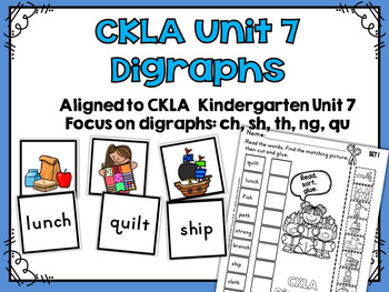 CKLA Kindergarten Skills Unit 7 Sorting Activities