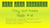 CKLA Kindergarten Skills Units 8-10 Tricky Words Bundle