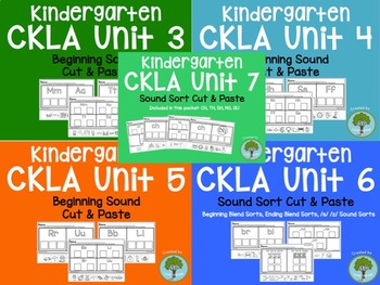 CKLA Skills Kindergarten Units 3-7 Sound Sort Bundle