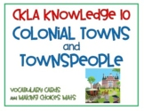 CKLA Knowledge 10 Colonial Towns and Townspeople Vocabulary Cards