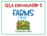 CKLA 2nd Edition Knowledge 5 Farms Vocabulary Cards
