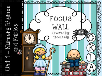 CKLA Knowledge Kindergarten Focus Wall - Unit 1 Nursery Rhymes and Fables