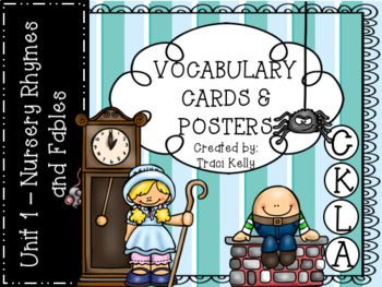 CKLA Knowledge Kindergarten Vocabulary  - Unit 1 Nursery Rhymes and Fables