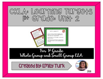 CKLA Learning Targets: Unit 2