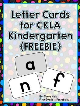 {FREEBIE} CKLA Large Letter Cards