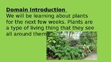 CKLA Listening Learning Domain 4- Plants