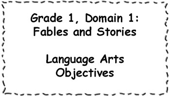 CKLA Listening and Learning Objectives: 1st Grade, Domain 1