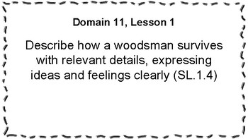 CKLA Listening and Learning Objectives: 1st Grade, Domain 11