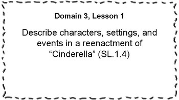 CKLA Listening and Learning Objectives: 1st Grade, Domain 3