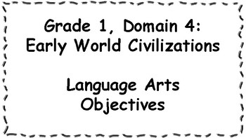 CKLA Listening and Learning Objectives: 1st Grade, Domain 4