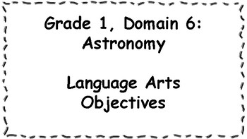 CKLA Listening and Learning Objectives: 1st Grade, Domain 6