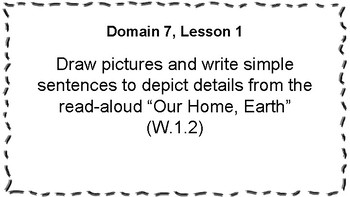 CKLA Listening and Learning Objectives: 1st Grade, Domain 7