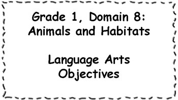 CKLA Listening and Learning Objectives: 1st Grade, Domain 8