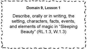 CKLA Listening and Learning Objectives: 1st Grade, Domain 9