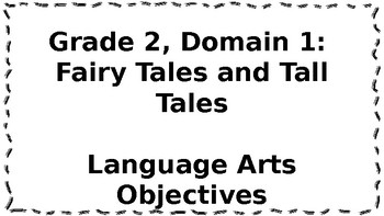 CKLA Listening and Learning Objectives: 2nd Grade, Domain 1