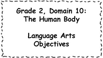 CKLA Listening and Learning Objectives: 2nd Grade, Domain 10