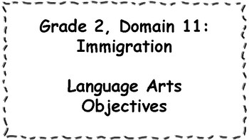 CKLA Listening and Learning Objectives: 2nd Grade, Domain 11