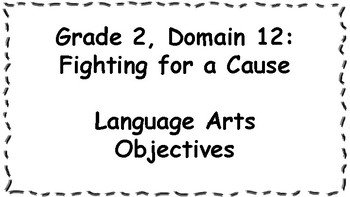CKLA Listening and Learning Objectives: 2nd Grade, Domain 12