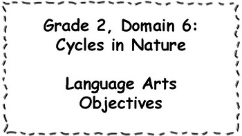 CKLA Listening and Learning Objectives: 2nd Grade, Domain 6