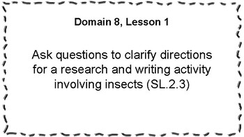 CKLA Listening and Learning Objectives: 2nd Grade, Domain 8