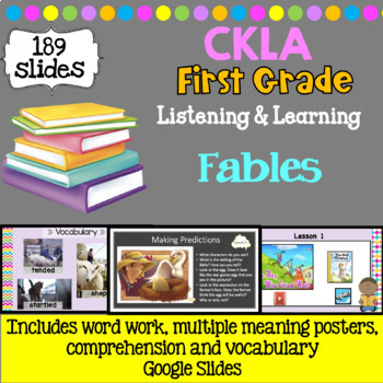 CKLA Listening and Learning PowerPoint: Fables and Stories First Grade