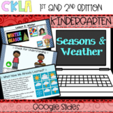 CKLA PowerPoint: Seasons & Weather Domain (Amplify, EngageNY) Distance Learning