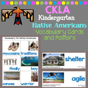 CKLA Listening and Learning Vocabulary Cards: Domain Native Americans