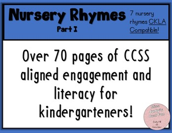 CKLA Kindergarten Nursery Rhymes