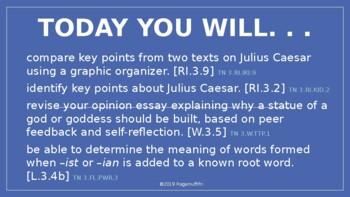 CKLA PowerPoint 3rd Grade Unit 4-Lesson 8, Julius Caesar: Fighter, Writer
