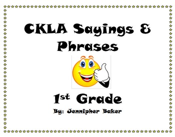 CKLA Saying and Phrases Posters First Grade